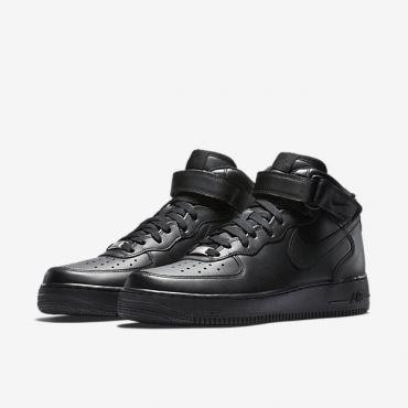 852a4fee05d6 Nike Air Force 1 Mid 07 All Black Sneakers - SPORT SHOES Lifestyle ...