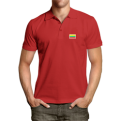 Red polo shirt with Vytis