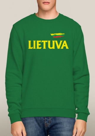 Lithuania Green Crew Sweatshirt