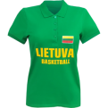 Lietuva Basketball Wmns Polo Shirt