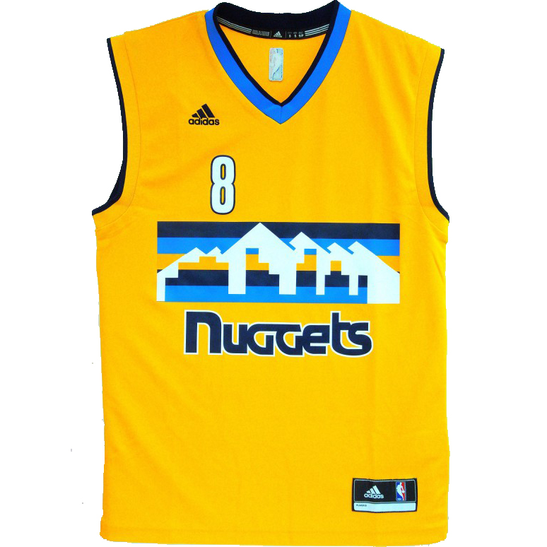 000 000. adidas NBA Denver Nuggets Danilo Gallinari Replica jersey ... 98236c7c6