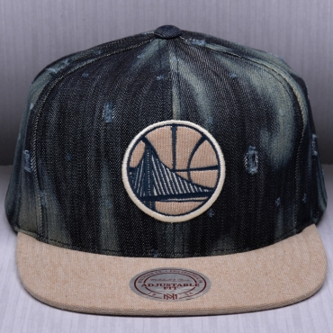 Mitchell & Ness NBA Golden State Warriors Torn Denim Snapback Kepurė