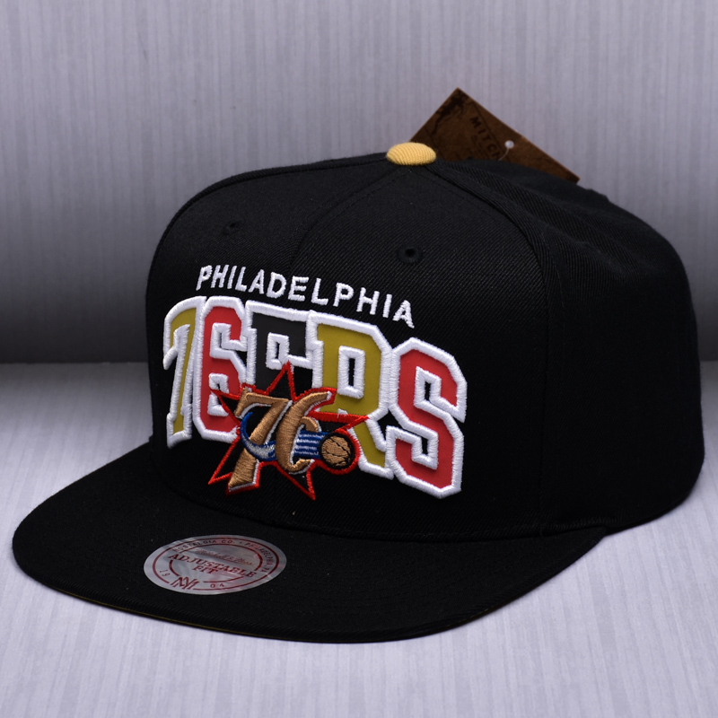 Mitchell   Ness NBA Philadelphia 76ers Reflective Tri Pop Arch Snapback Cap c4e2cccf6