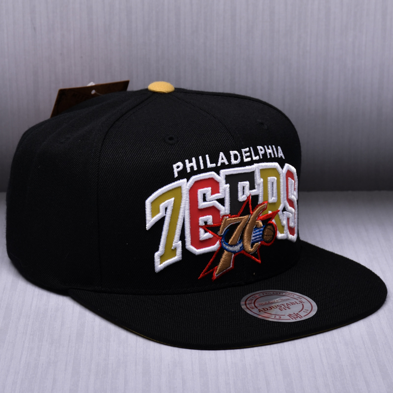 cheap for discount 360cd 18e00 ... official store mitchell ness nba philadelphia 76ers reflective tri pop  arch snapback cap c93af 59cce