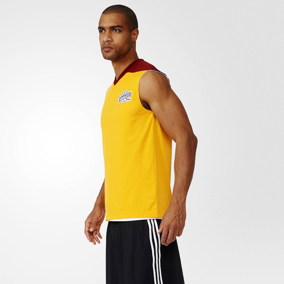 adidas NBA Cleveland Cavaliers Summer Run Reversible Sleeveless Tee ... a919cf29e