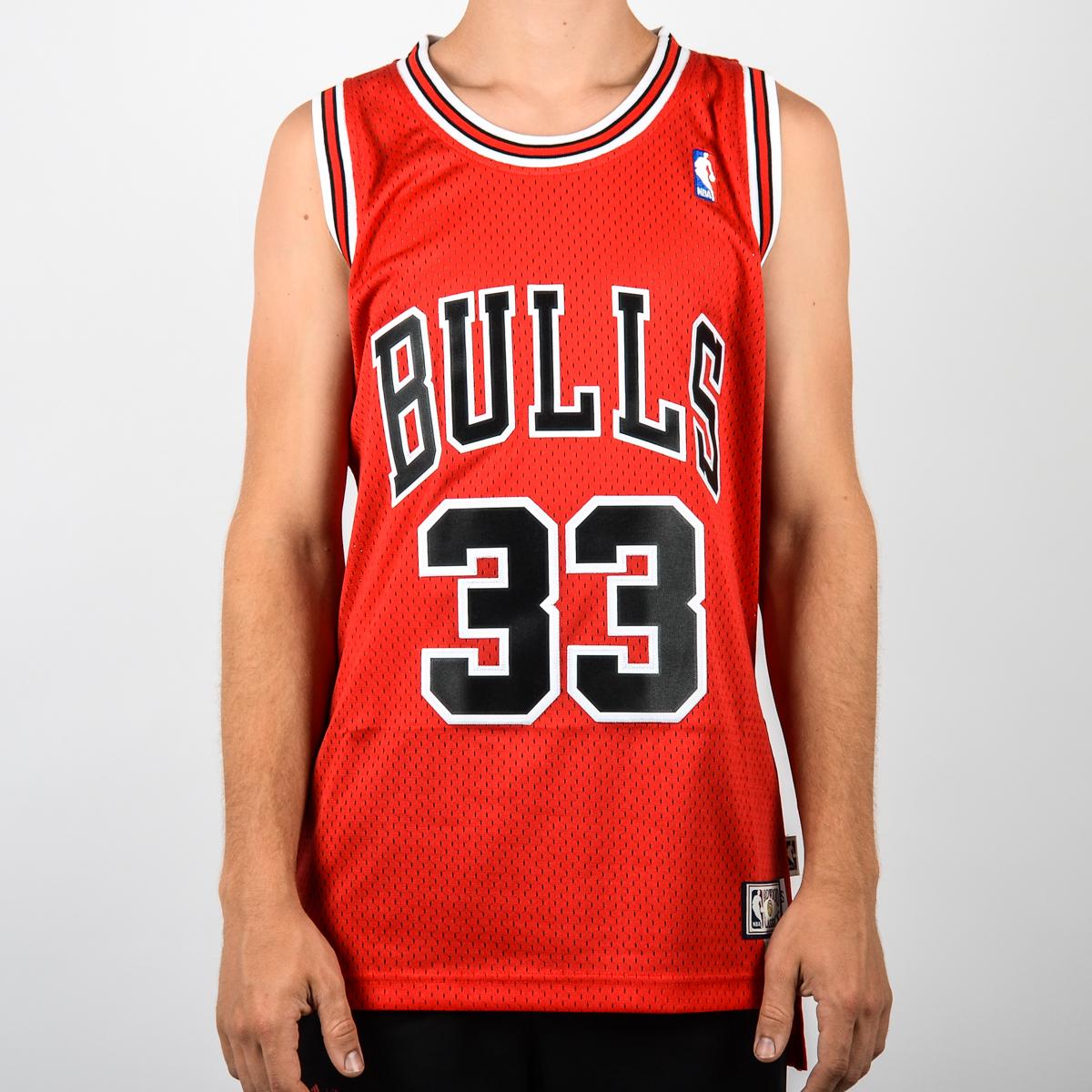 promo code 18205 c2e80 chicago bulls 33 scottie pippen white swingman jersey
