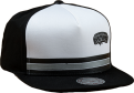Mitchell & Ness NBA San Antonio Spurs Pacific Stripe Pinch Panel Snapback Kepurė