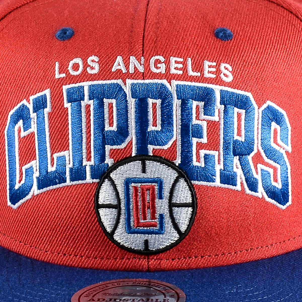 6fa7b5fdb5a Mitchell   Ness NBA Los Angeles Clippers Team Arch Snapback Cap ...