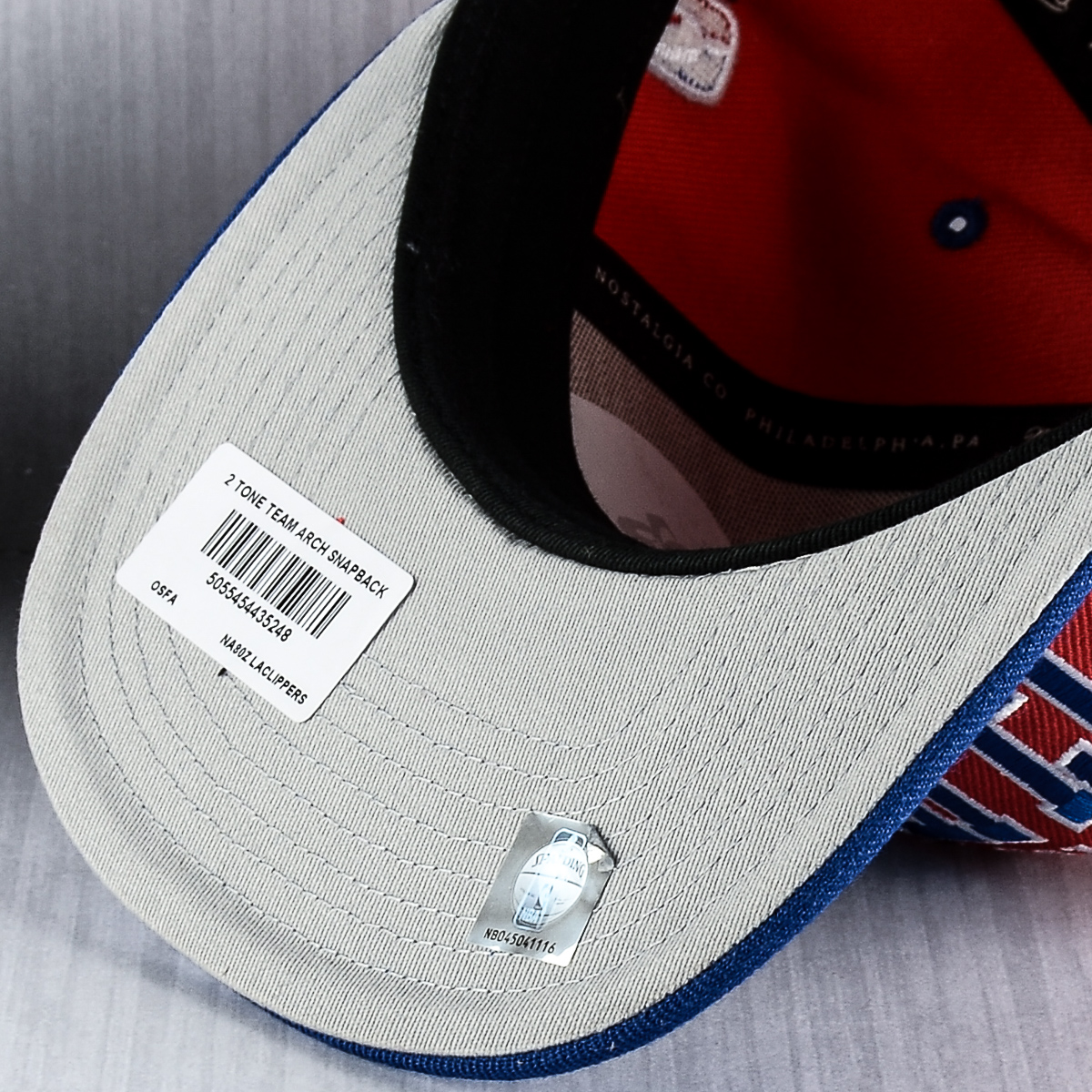 buy online 46d02 3a627 Mitchell   Ness NBA Los Angeles Clippers Team Arch Snapback Cap