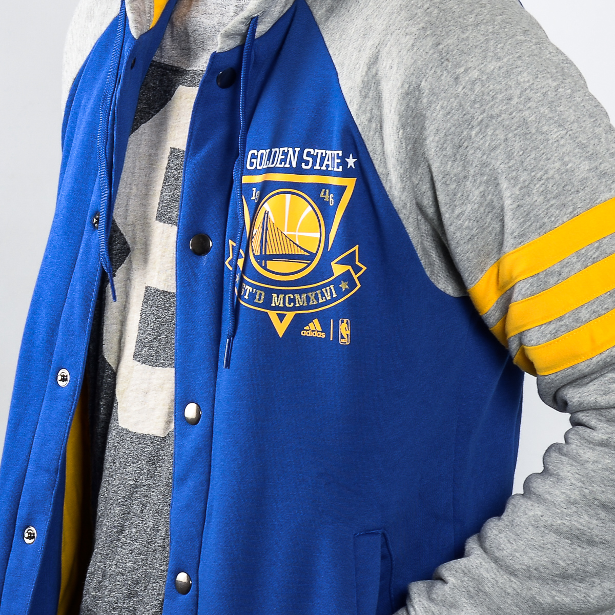 new styles 2314f a12b2 adidas NBA Golden State Warriors Washed Jacket - NBA Shop ...