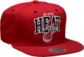 Mitchell & Ness NBA Miami Heat Black And White Arch Snapback Kepurė