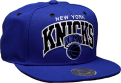 Mitchell & Ness NBA New York Knicks Black And White Arch Snapback Cap