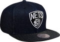 Mitchell & Ness NBA Brooklyn Nets Raw Denim Snapback Kepurė