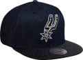 Mitchell & Ness NBA San Antonio Spurs Raw Denim Snapback Kepurė