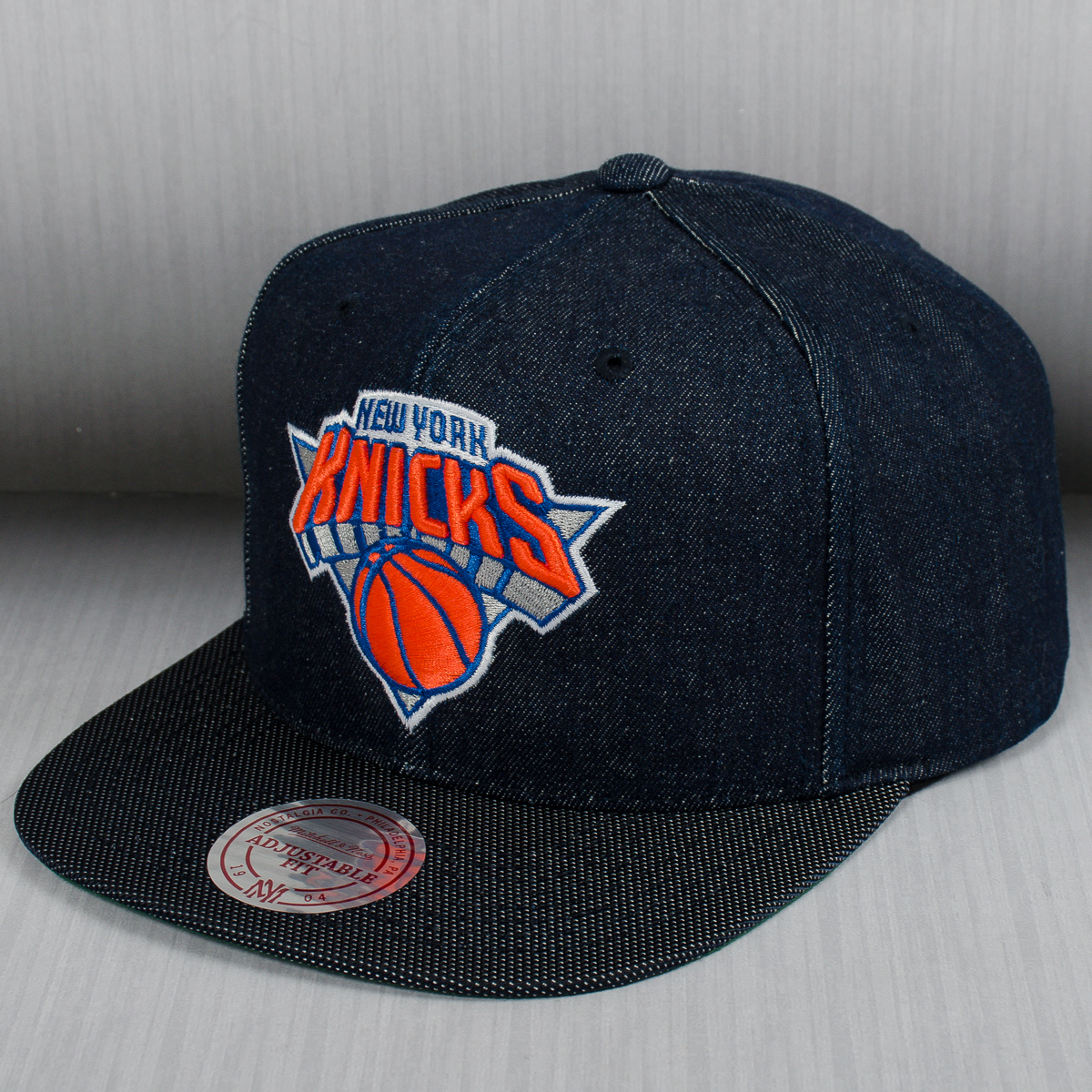 ee396da097b ... discount code for mitchell ness nba new york knicks raw denim snapback  cap 3bac4 1e107