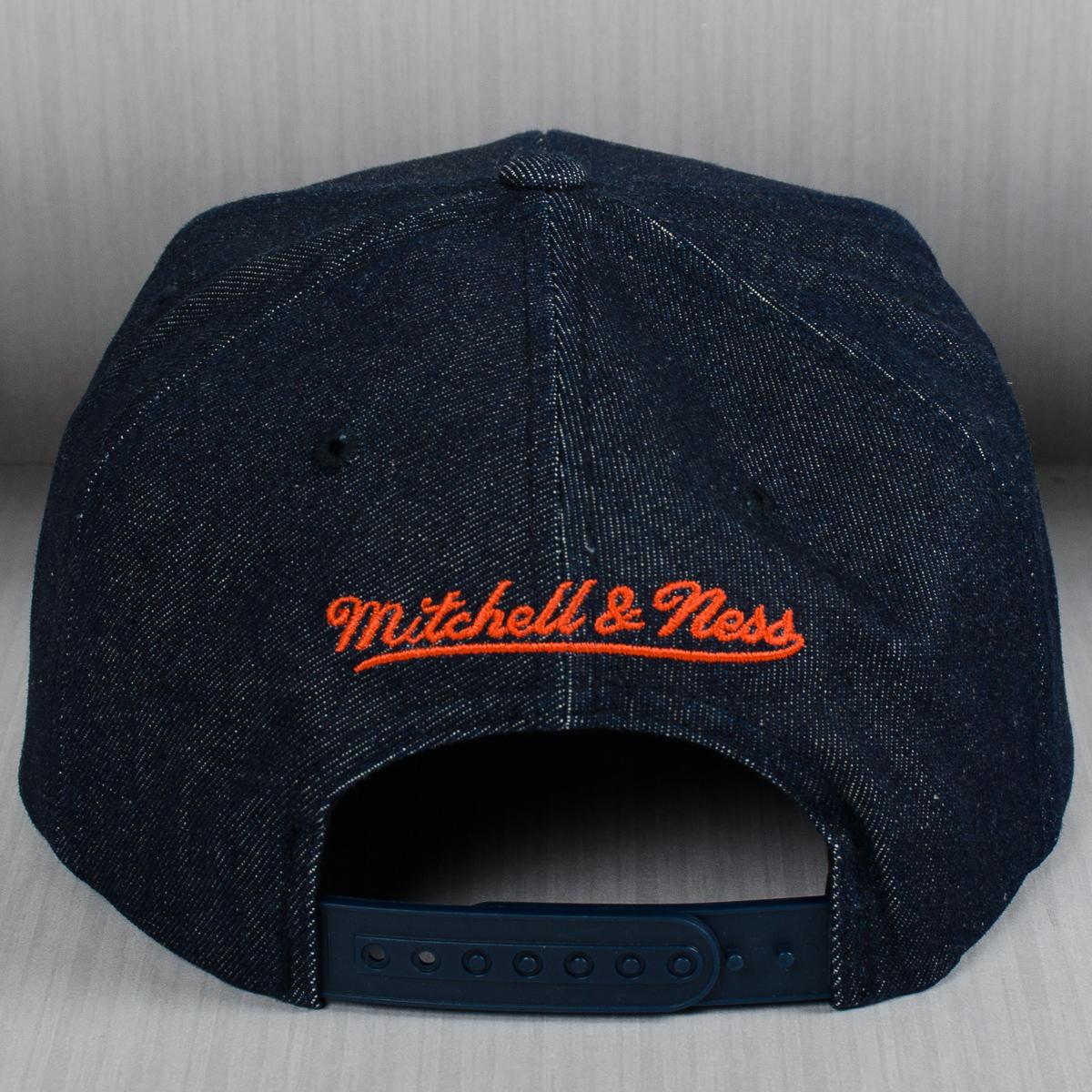 e5ad79763c0fd Mitchell   Ness NBA New York Knicks Raw Denim Snapback Cap - NBA ...