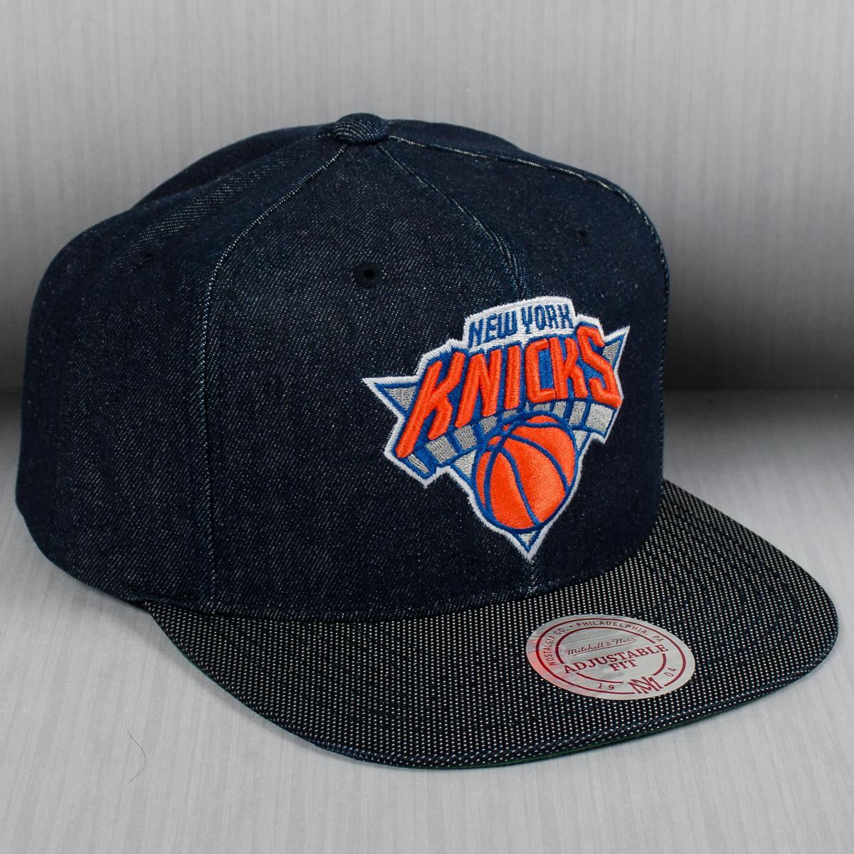 timeless design 216d0 81b90 Mitchell   Ness NBA New York Knicks Raw Denim Snapback Cap - NBA Shop New  York Knicks Merchandise - Superfanas.lt