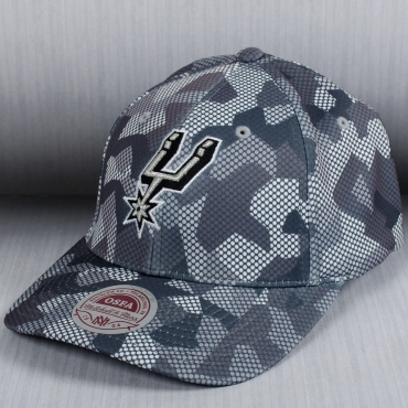 Mitchell Amp Ness Nba San Antonio Spurs Carbon Camo Flexfit