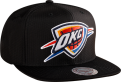 Mitchell & Ness NBA Oklahoma City Thunder Black Ripstop Honeycomb Snapback kepurė
