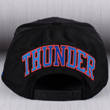 new style 9845b 0d2c2 ... Mitchell   Ness NBA Oklahoma City Thunder Black Ripstop Honeycomb  Snapback ...