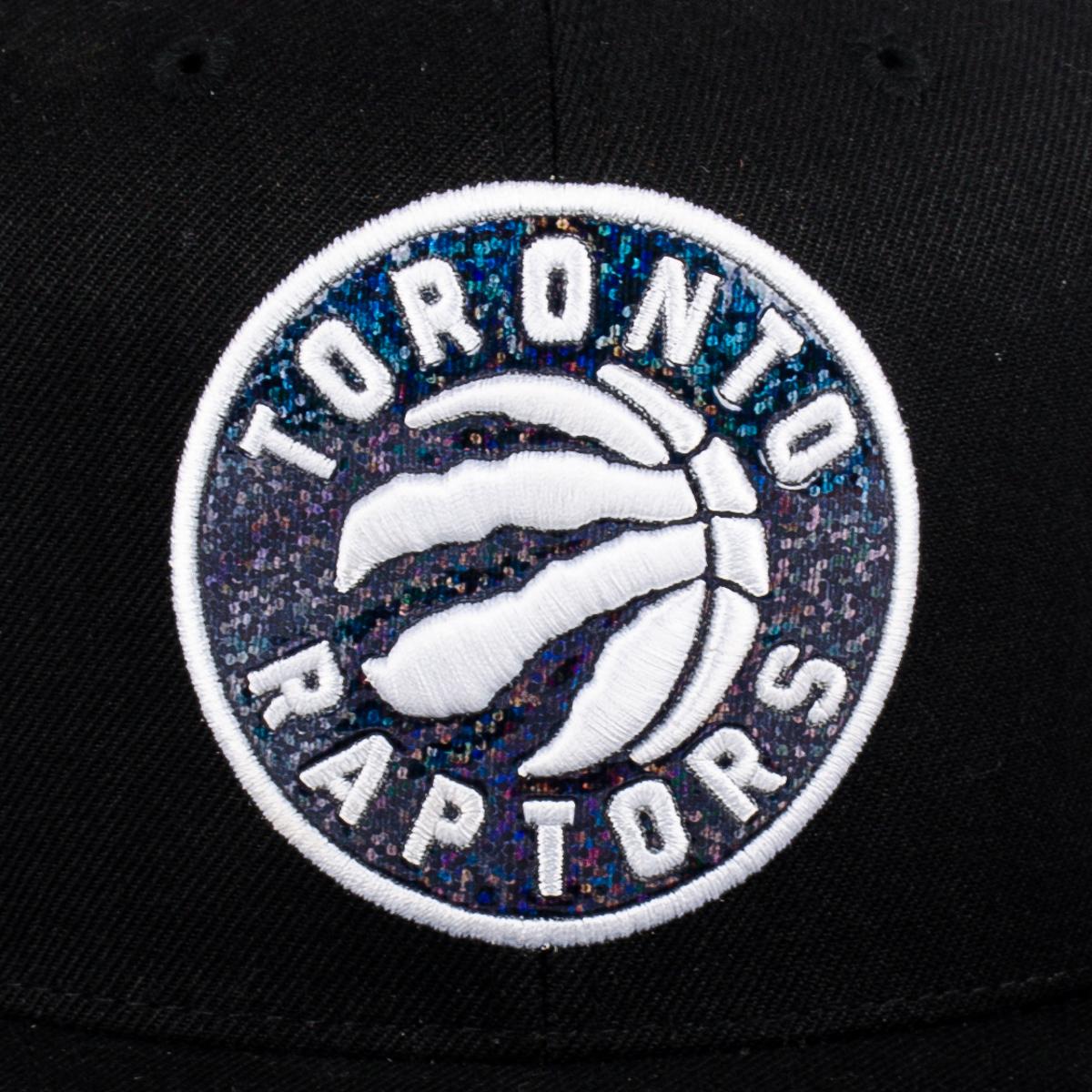 ac2caf1122f Mitchell   Ness NBA Toronto Raptors Dark Hologram Snapback Cap - NBA ...
