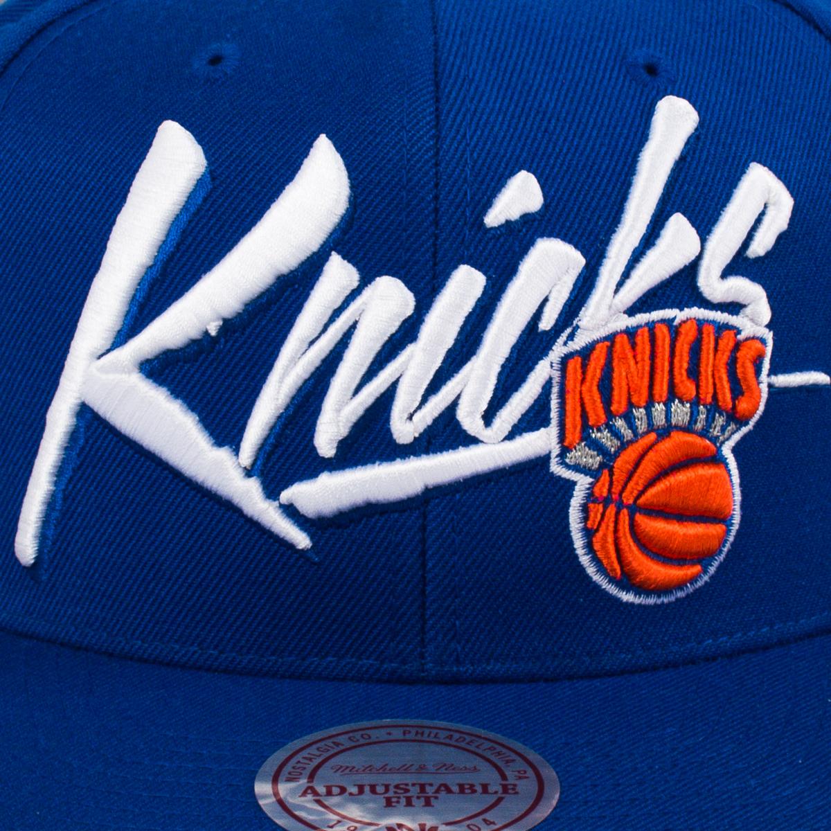 8425ef8404aaf Mitchell   Ness NBA New York Knicks Vice Script Solid Snapback Cap ...