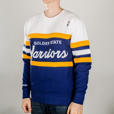 Mitchell & Ness NBA Golden State Warriors Head Coach Crew džemperis
