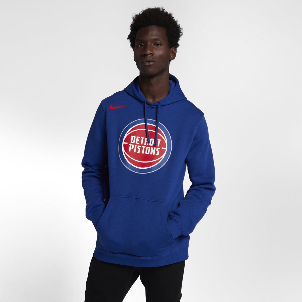 quality design 8d52d 6aa2e Nike NBA Detroit Pistons Fleece Hoodie - NBA Shop Detroit ...