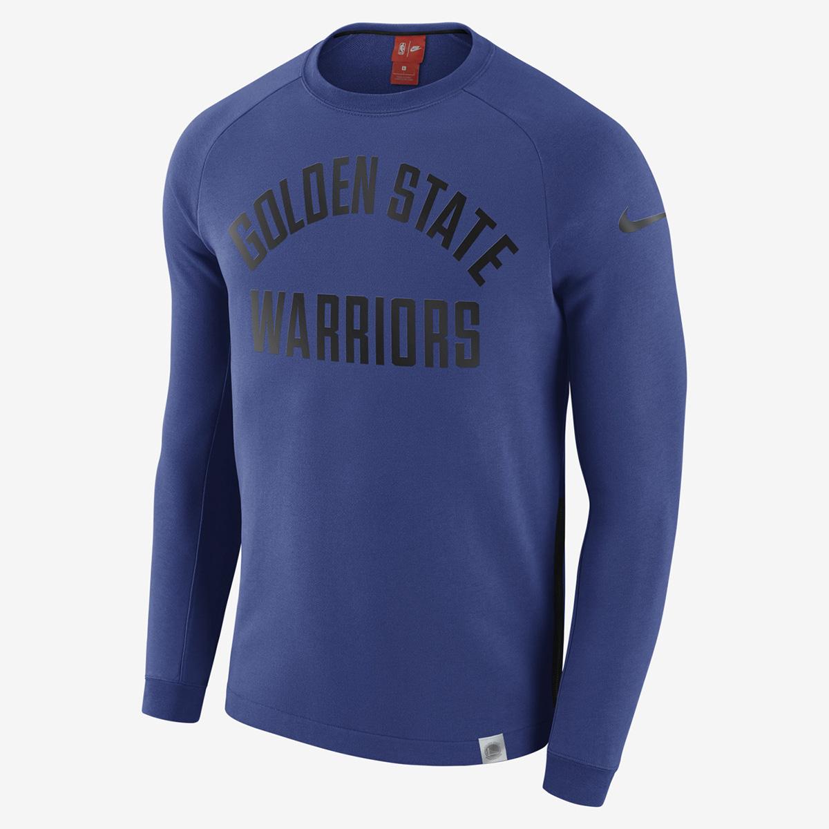 pretty nice 1b60e 43d1f Nike NBA Golden State Warriors Modern Long Sleeve Crewneck ...