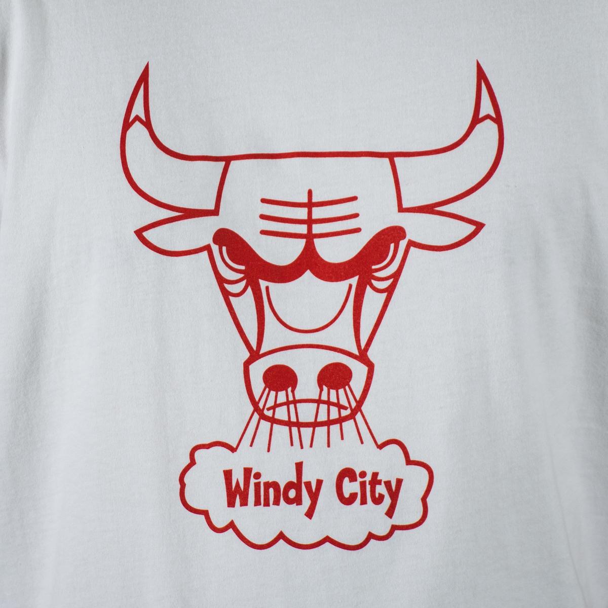 c609ed704dd Mitchell   Ness NBA Chicago Bulls Windy City Logo Traditional Tee ...