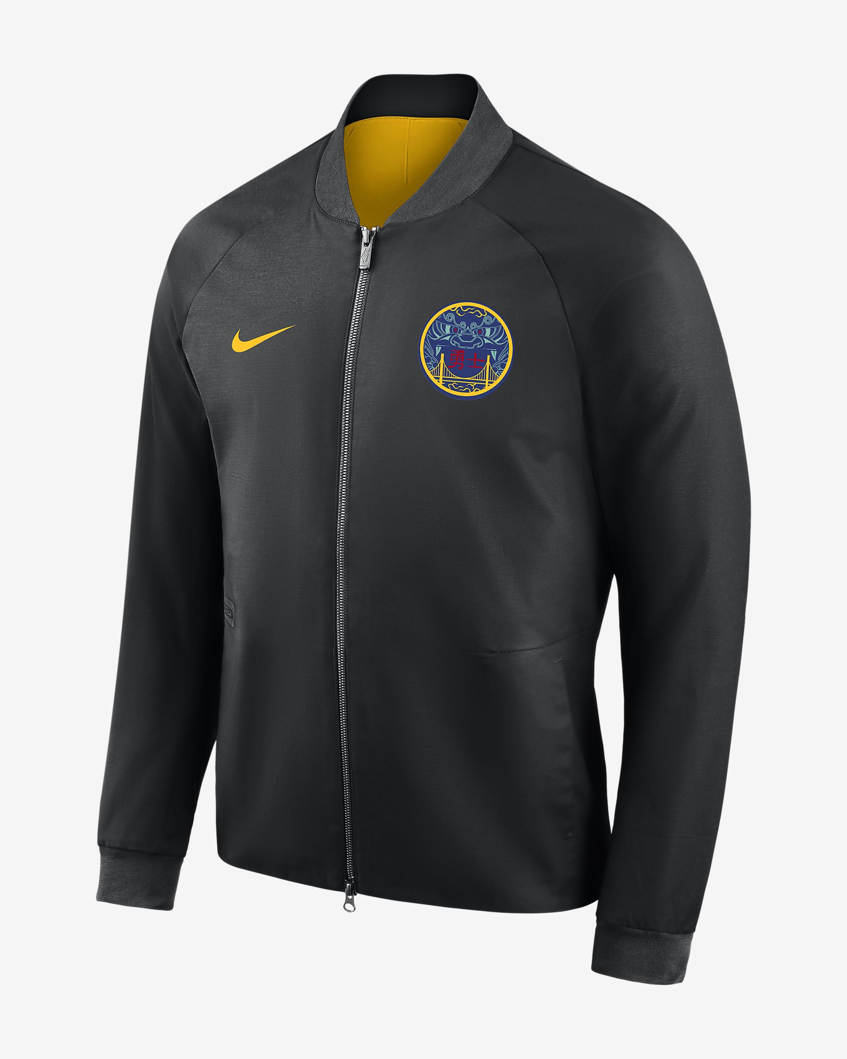 8ff33e320 Nike NBA Golden State Warriors City Edition Modern Varsity Jacket - NBA  Shop Golden State Warriors Merchandise - Superfanas.lt