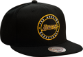 Mitchell & Ness NBA Los Angeles Lakers Twill Circle Patch Snapback kepurė