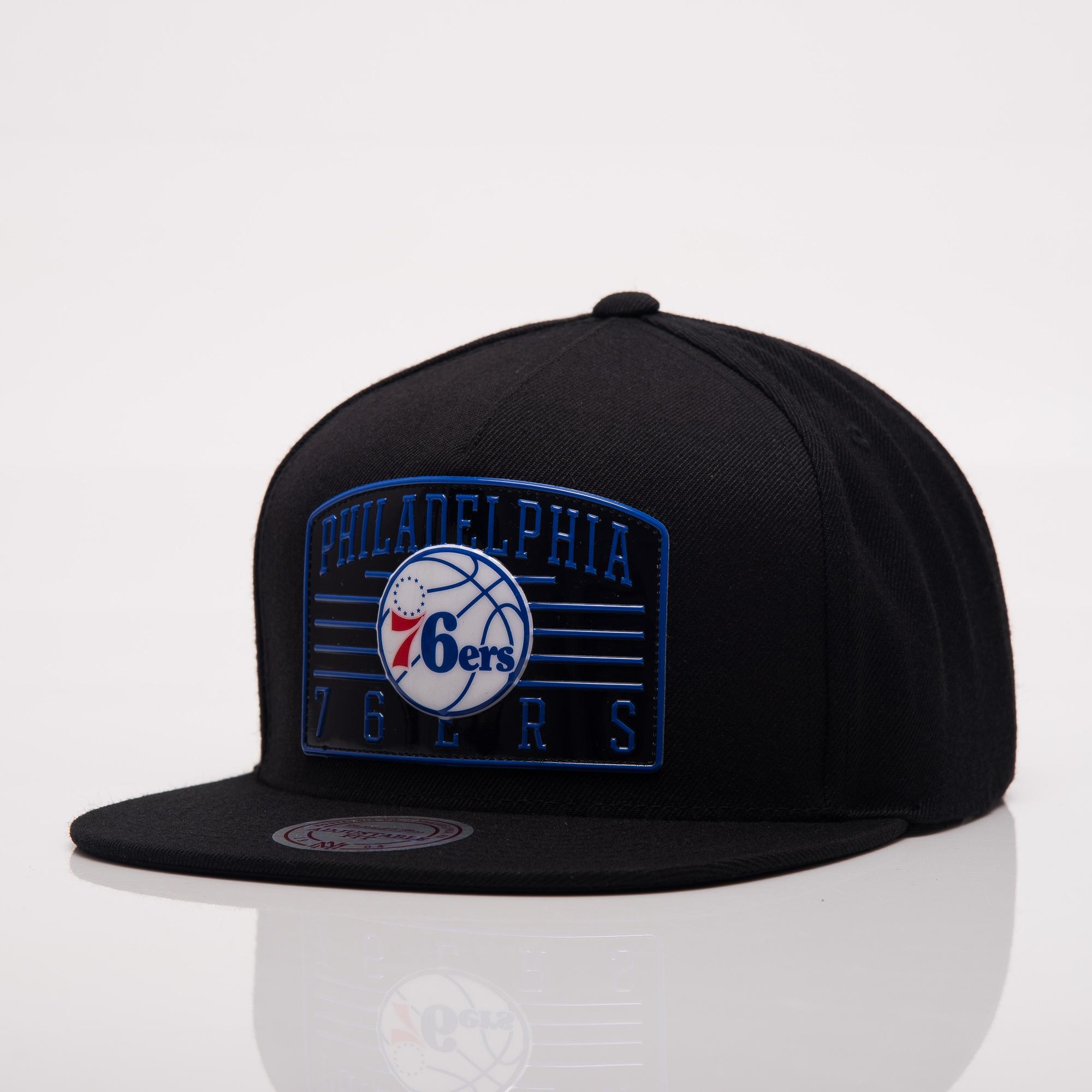717e6a98aa6 Mitchell Ness NBA Philadelphia 76ers Weald Patch Snapback Cap - NBA Shop Philadelphia  76ers Merchandise - Superfanas.lt