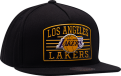 Mitchell Ness NBA Los Angeles Lakers Weald Patch Snapback kepurė