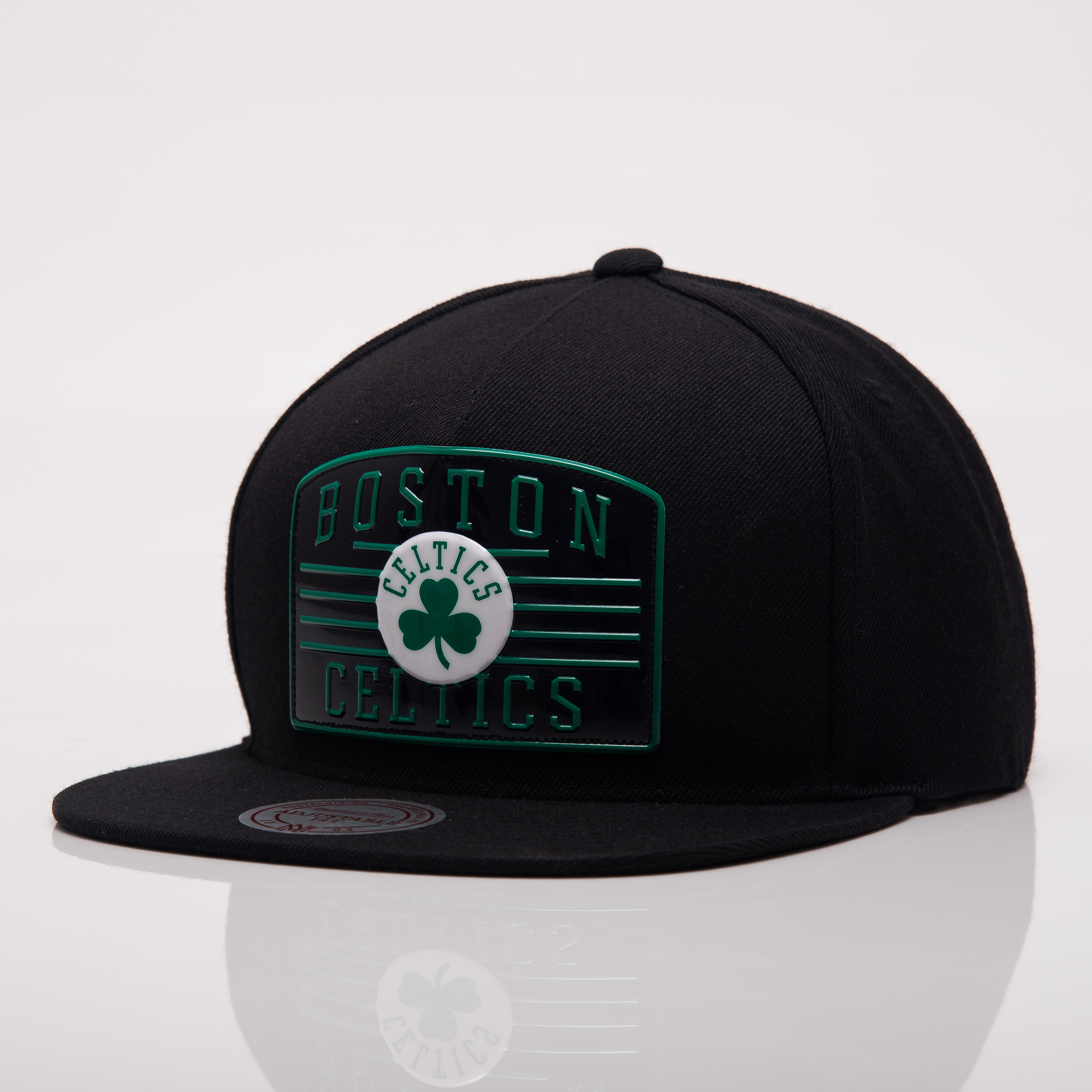 new arrival ed940 61081 Mitchell Ness NBA Boston Celtics Weald Patch Snapback Cap ...