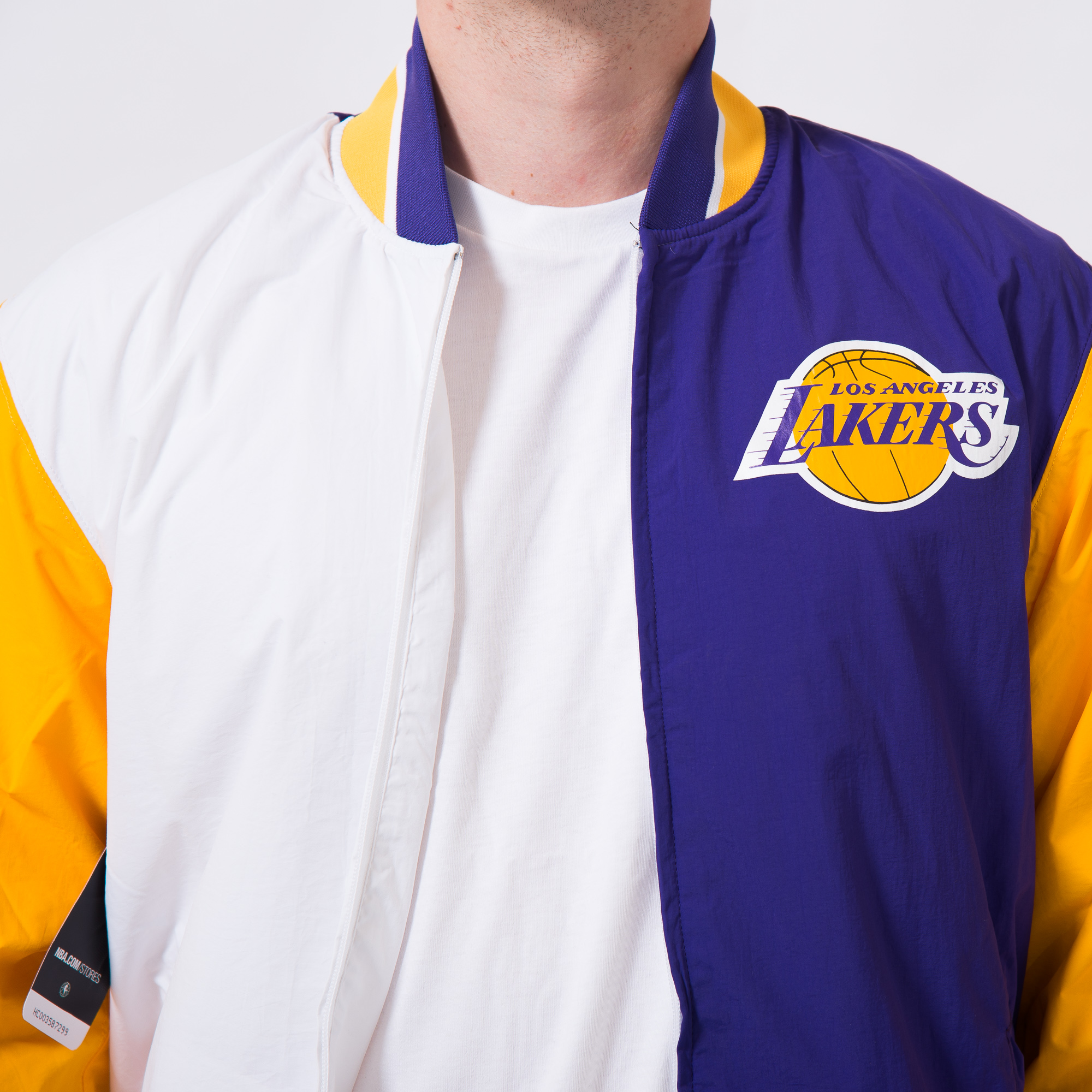 outlet store 48bc5 cf1c8 Mitchell   Ness NBA Los Angeles Lakers Team History Warm Up Jacket 2.0