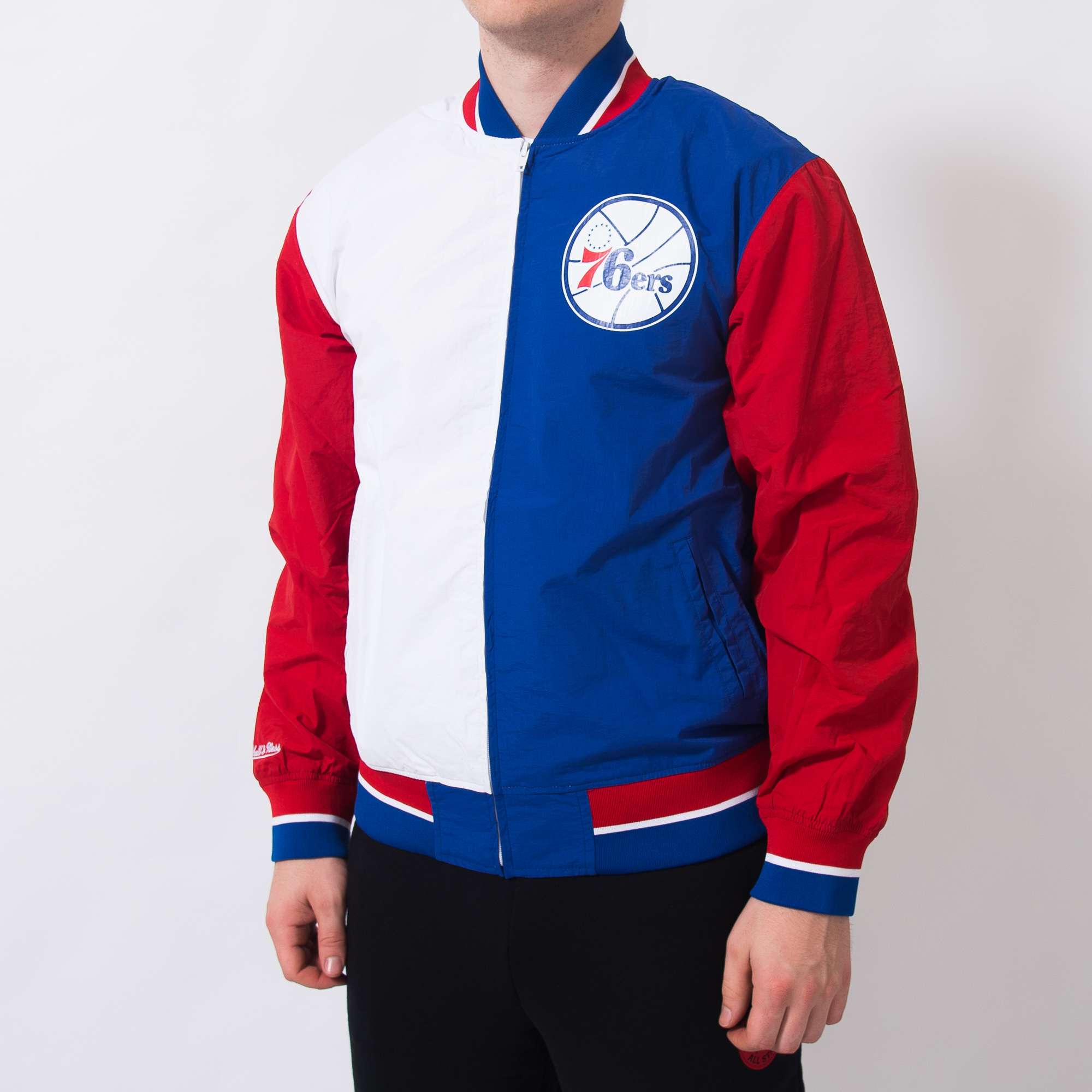 84dc6719d7c Mitchell & Ness NBA Philadelphia 76ers Team History Warm Up Jacket 2.0 - NBA  Shop Philadelphia 76ers Merchandise - Superfanas.lt