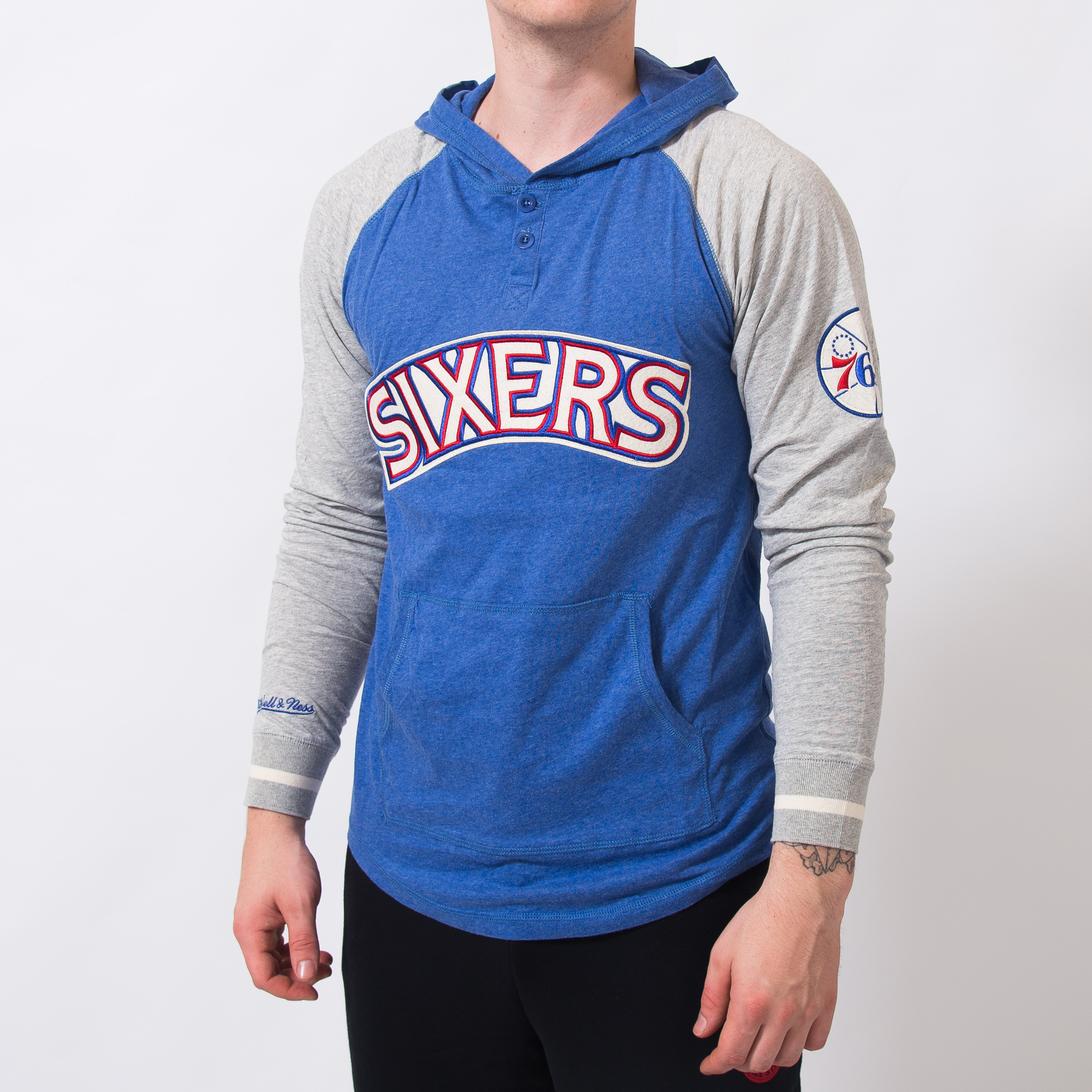 2247646ec28 Mitchell & Ness NBA Philadelphia 76ers Slugfest Lightweight Hoody - NBA  Shop Philadelphia 76ers Merchandise - Superfanas.lt