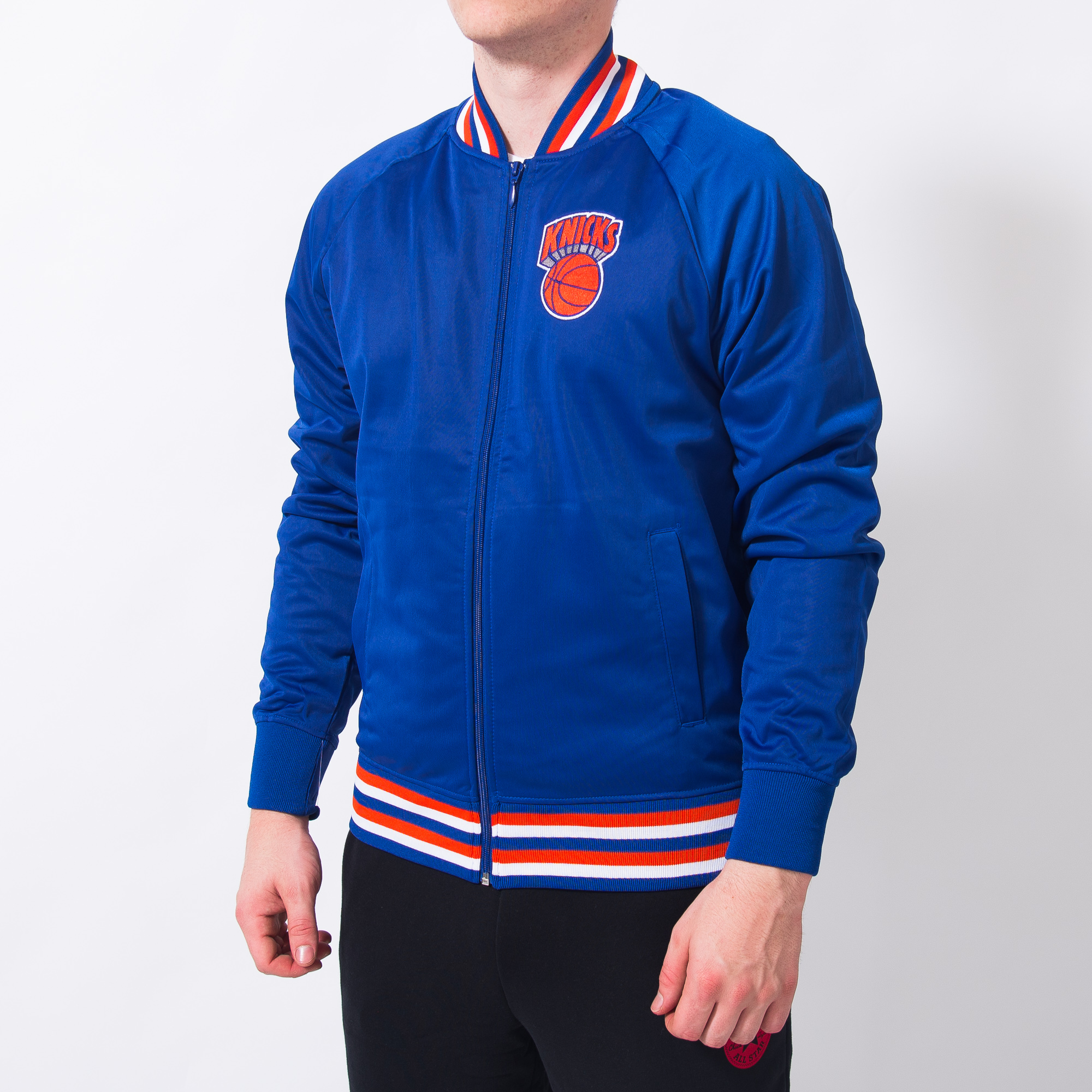 d9bf3ee3ff Mitchell & Ness NBA New York Knicks Top Prospect Jacket - NBA Shop ...