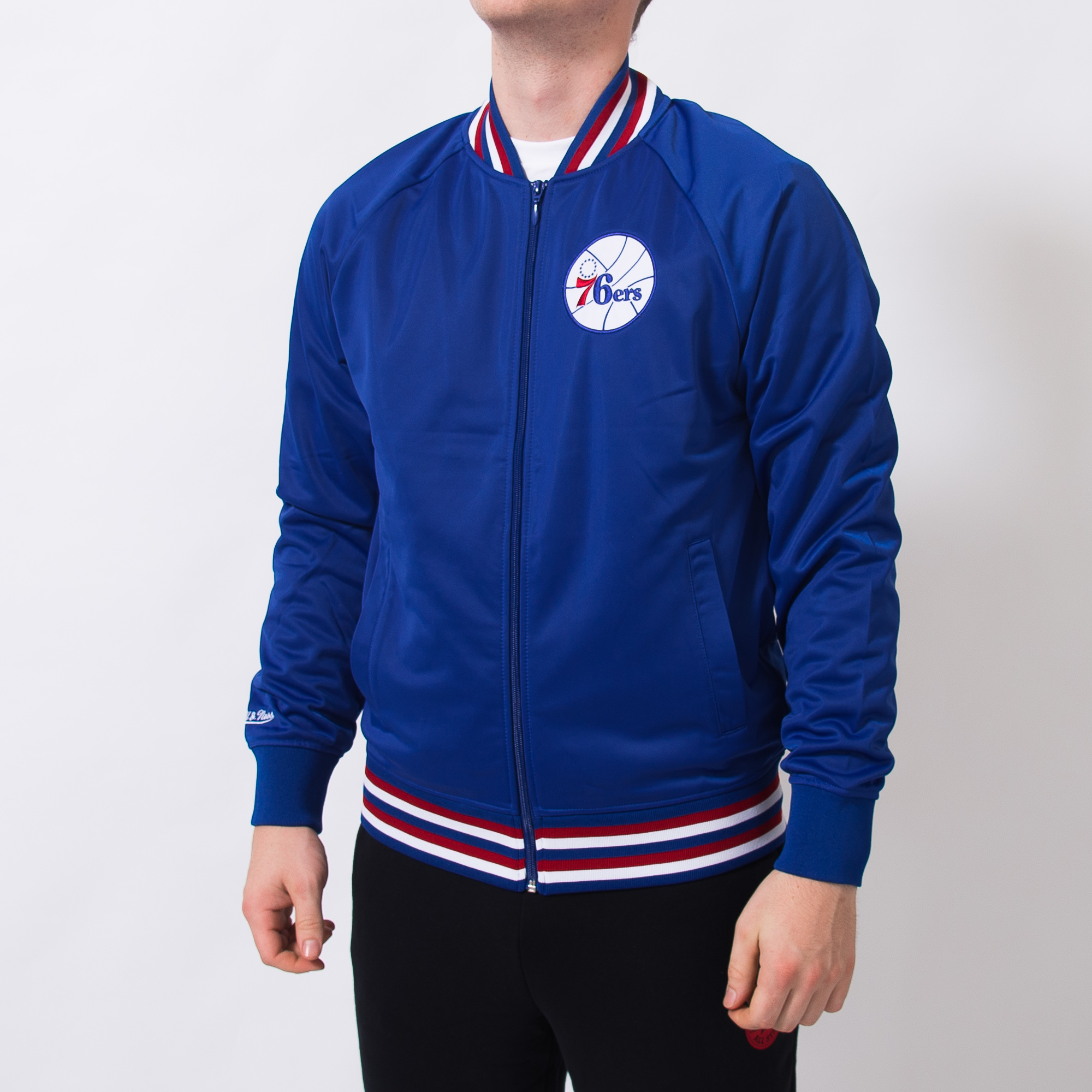 9f9f2cca4b3 Mitchell & Ness NBA Philadelphia 76ers Top Prospect Jacket - NBA Shop  Philadelphia 76ers Merchandise - Superfanas.lt