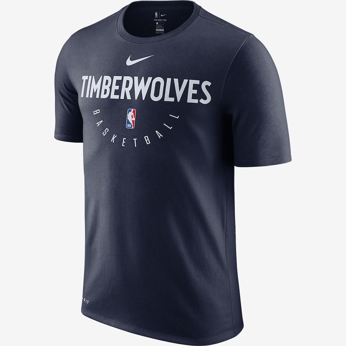 new arrivals 57f91 b15ac Nike NBA Minnesota Timberwolves Dri-FIT Practice Shirt - NBA ...
