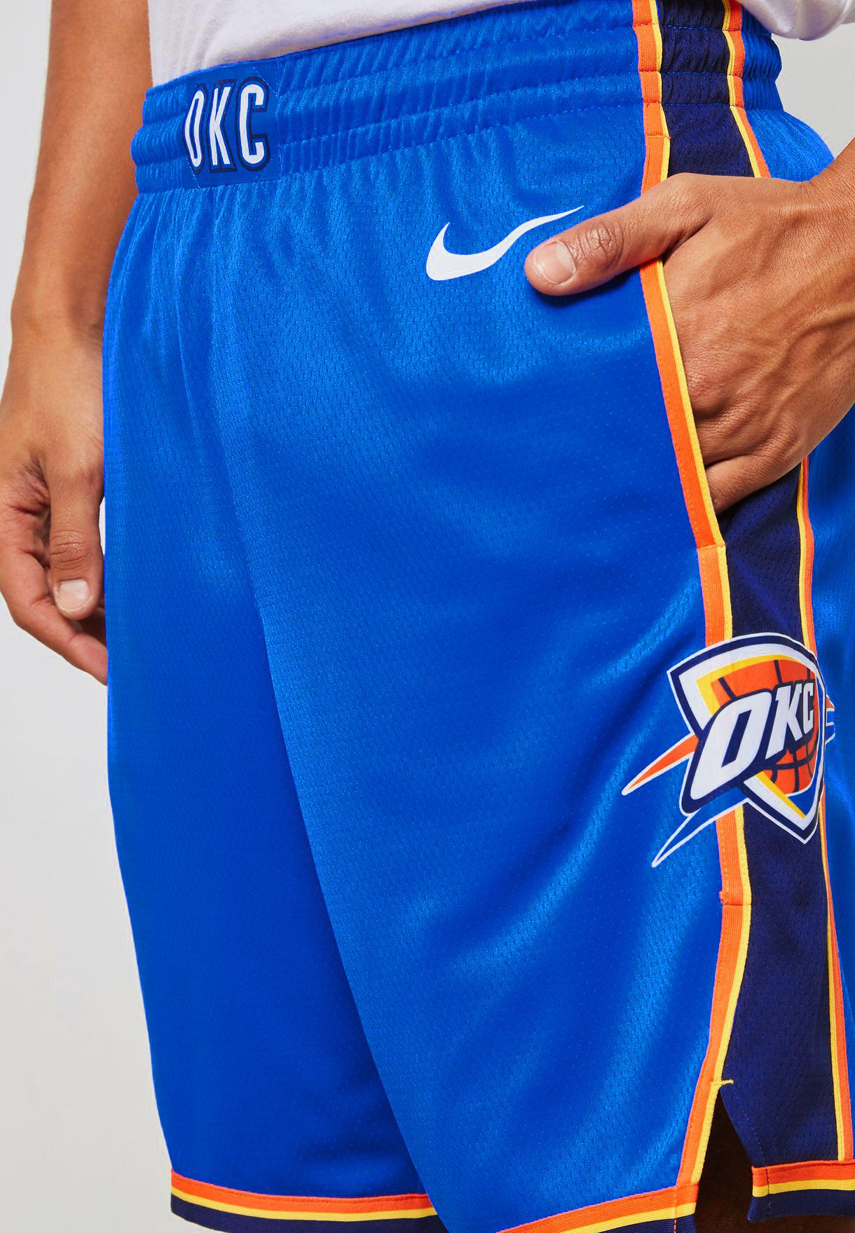 1d91e237a54 Nike NBA Oklahoma City Thunder Icon Edition Swingman Shorts - NBA ...