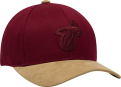 Mitchell & Ness NBA Miami Heat 3D Suede 110 Snapback Cap
