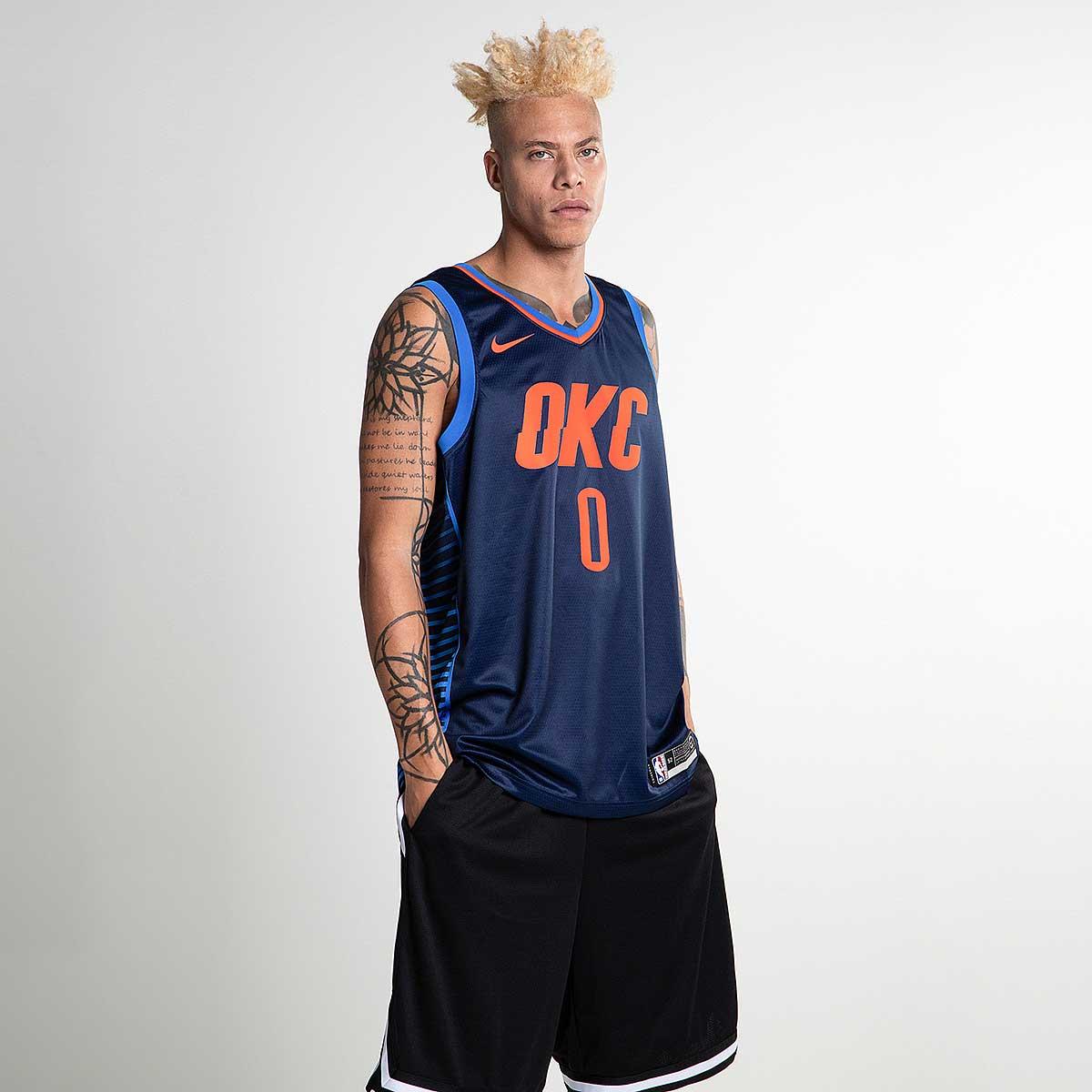 08ed8c87d23 Nike NBA Oklahoma City Thunder Russell Westbrook Statement Edition Swingman  Jersey - NBA Shop OKC Thunder Merchandise - Superfanas.lt