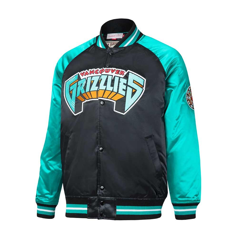 acf6ed714 Mitchell   Ness NBA Vancouver Grizzlies Tough Season Satin Jacket - NBA  Shop Memphis Grizzlies Merchandise - Superfanas.lt
