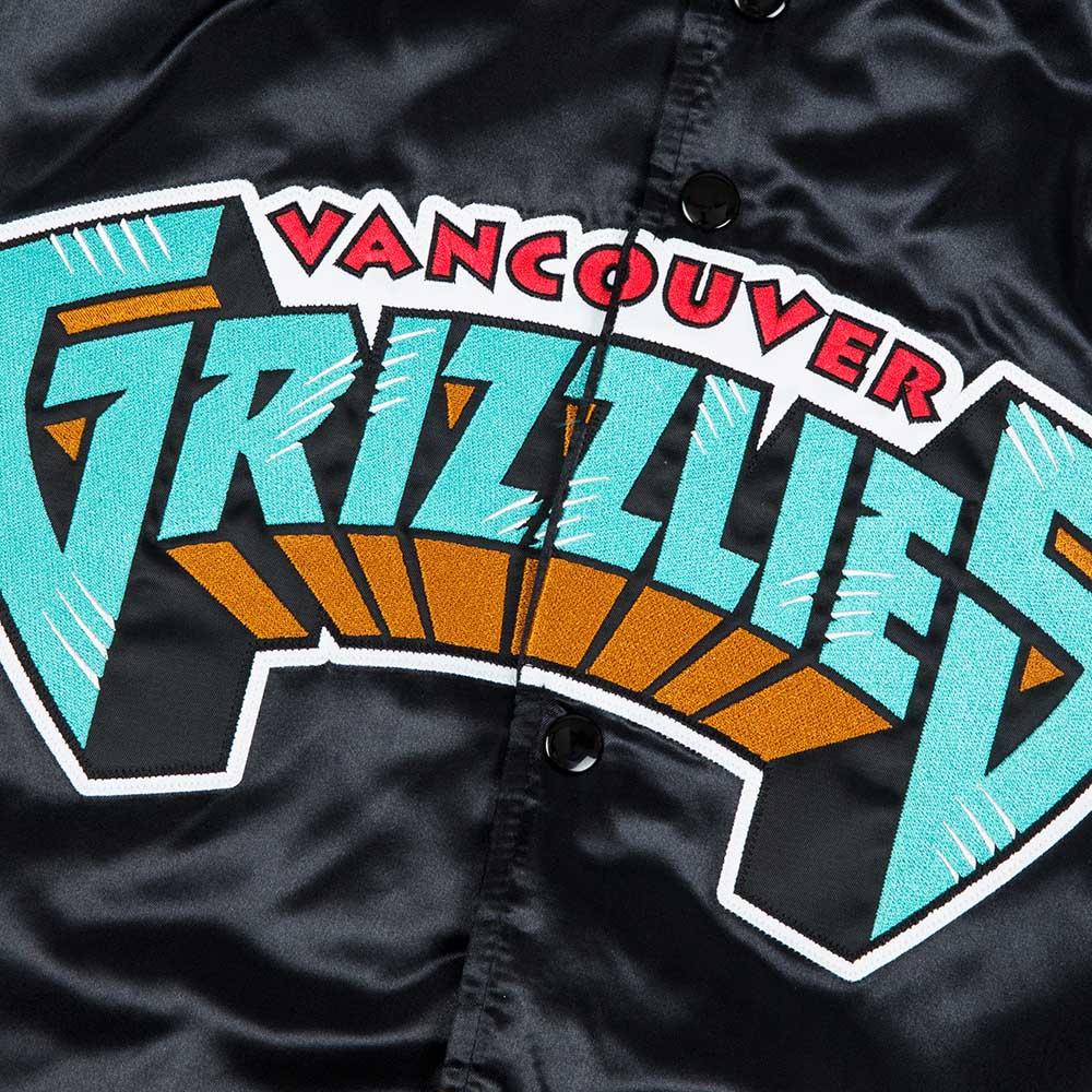 7bd3a4f9d Mitchell   Ness NBA Vancouver Grizzlies Tough Season Satin Jacket ...