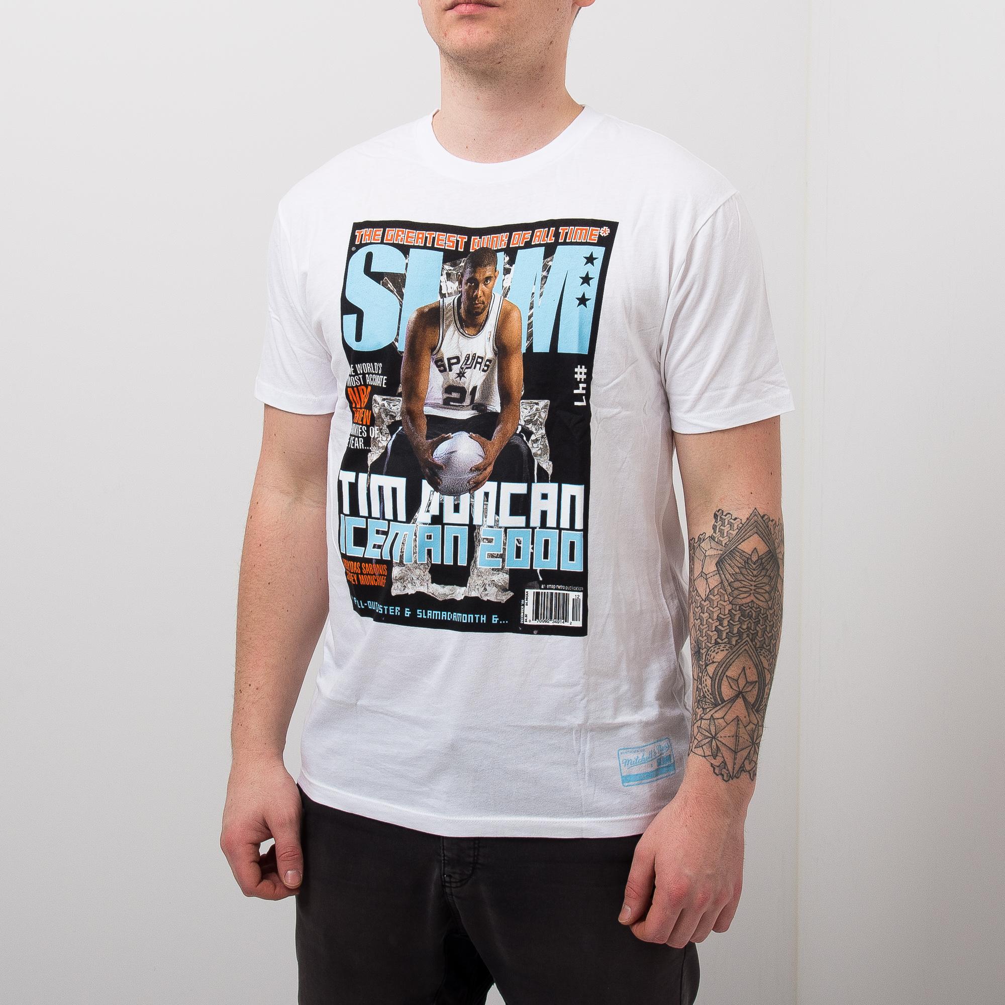 Mitchell Amp Ness Nba Slam Cover Tim Duncan Tee Nba Shop