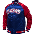 Mitchell & Ness NBA Philadelphia 76ers Tough Season Satin Jacket