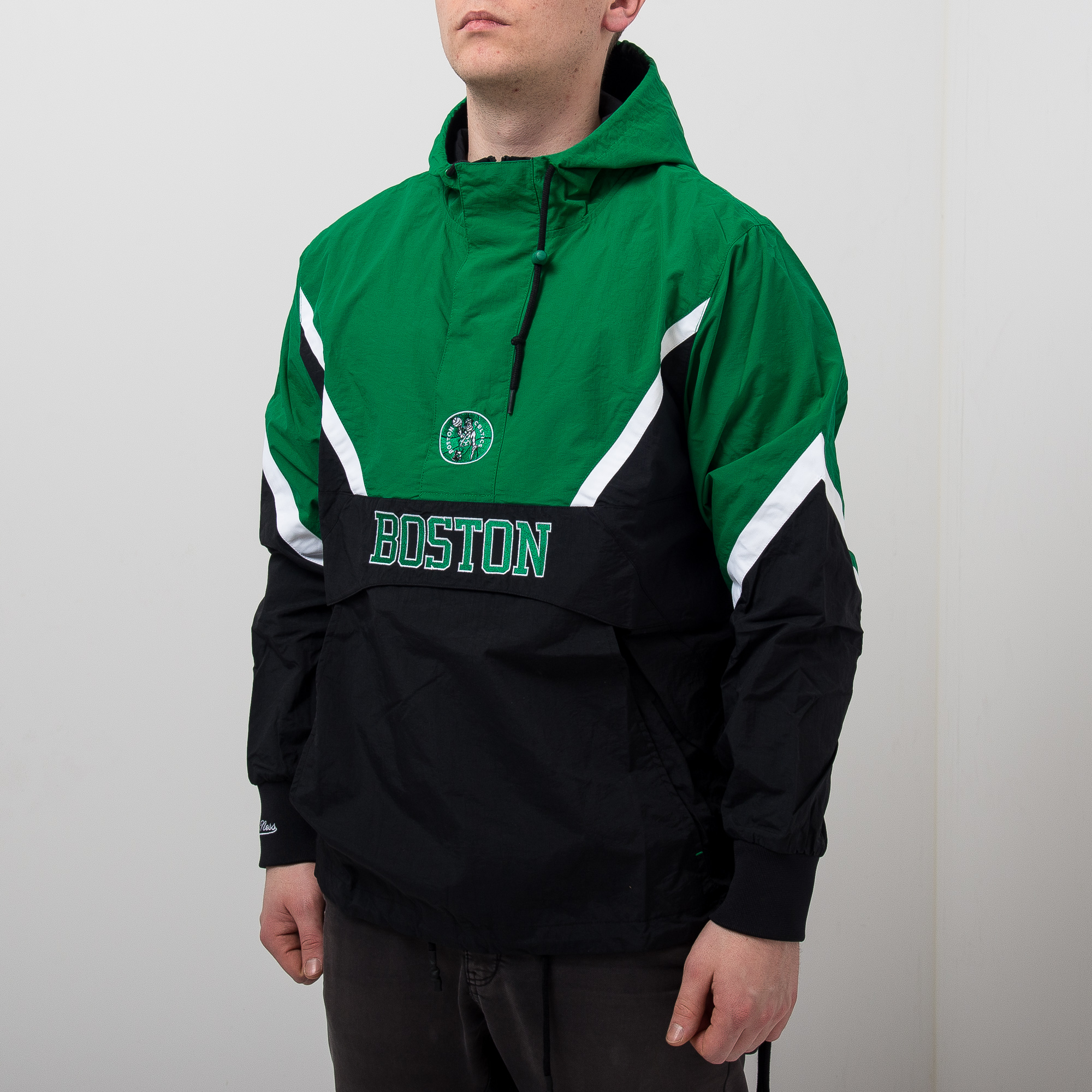 los angeles 95394 5815c Mitchell & Ness NBA Boston Celtics Half Zip Anorak Jacket ...