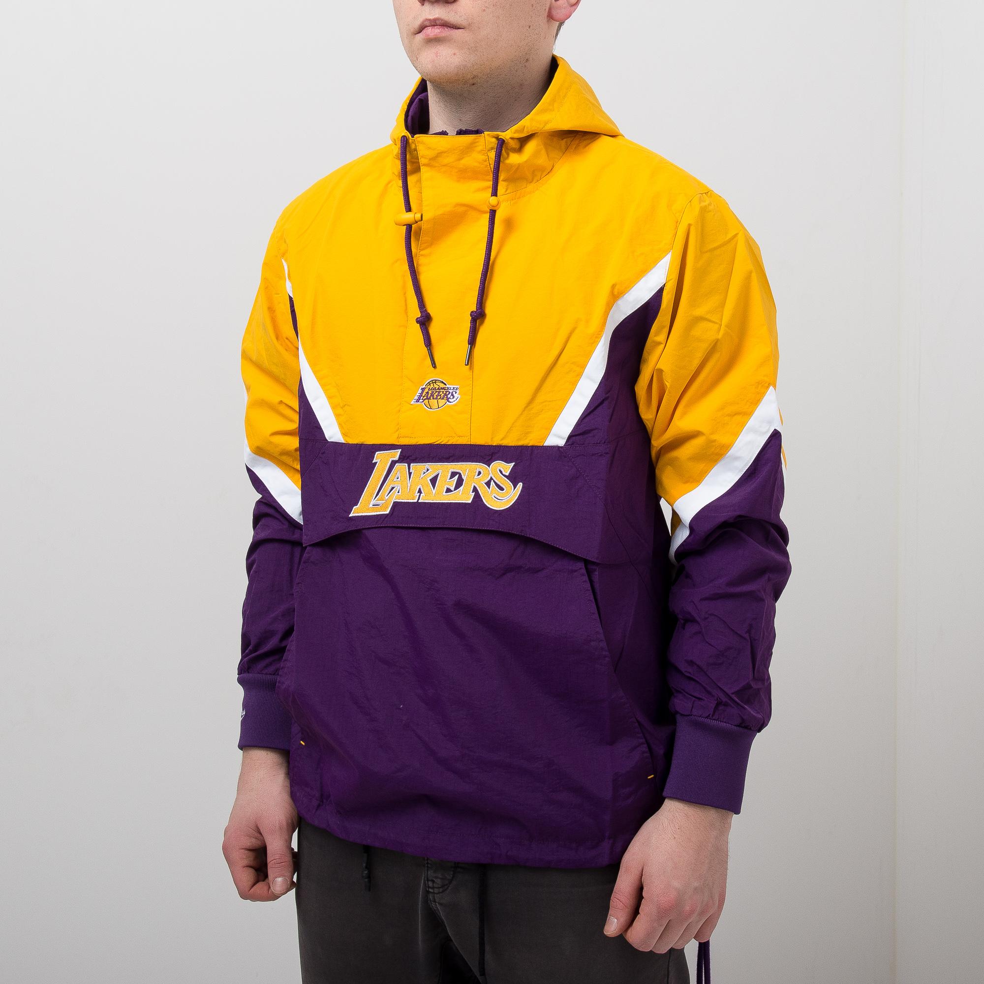 76b3cb7f741 Mitchell & Ness NBA Los Angeles Lakers Half Zip Anorak Jacket - NBA Shop  Los Angeles Lakers Merchandise - Superfanas.lt